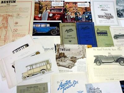 Lot 52 - Pre-War Sales Literature
