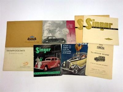 Lot 56 - Pre-War Sales Literature