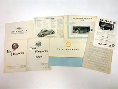 Lot 59-Pre-War Sales Literature