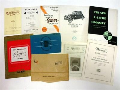 Lot 60 - Pre-War Sales Literature