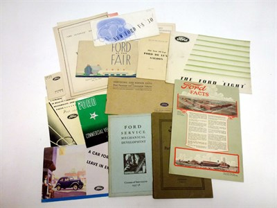Lot 65 - Pre-War Ford Sales Literature