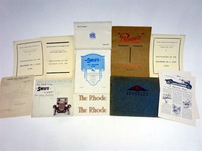 Lot 71 - Pre-War Sales Literature
