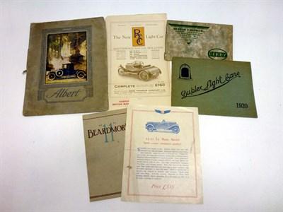 Lot 72 - Pre-War Sales Literature