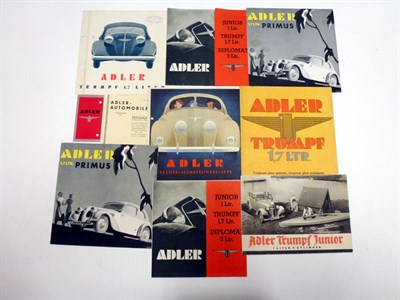 Lot 75 - Pre-War Adler Sales Literature