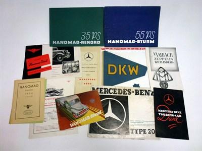 Lot 77 - Pre-War Sales Literature