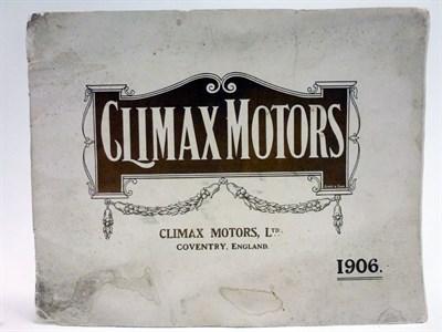Lot 85 - A Rare Sales Brochure for Climax Motors, 1906