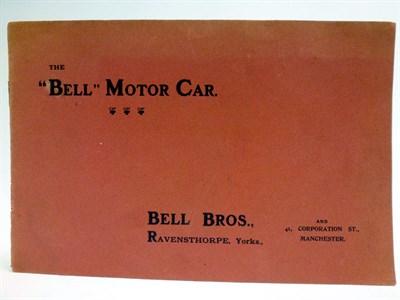 Lot 87-A Rare Sales Brochure for Bell Motors, c1908