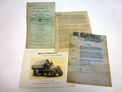 Lot 90 - Early Motoring Paperwork