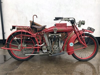 Lot 43-1915 Indian Model G 'Big Twin' Combination