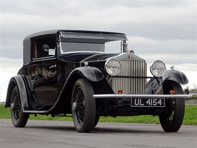 Lot 33 - 1929 Rolls-Royce 20hp Coupe