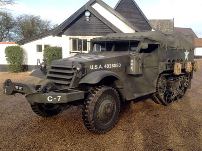 Lot 81 - 1944 White Motor Company M3 Half-Track Personnel Carrier