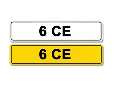 Lot 2-Registration Number 6 CE