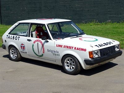 Lot 11-1980 Talbot Sunbeam Ti CTCRC Group 1 Racer
