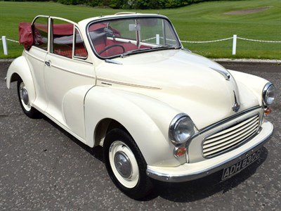 Lot 2-1969 Morris Minor 1000 Convertible