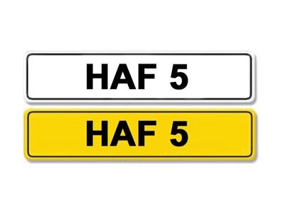 Lot 3-Registration Number HAF 5