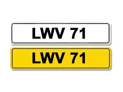 Lot 1-Registration Number LWV 71