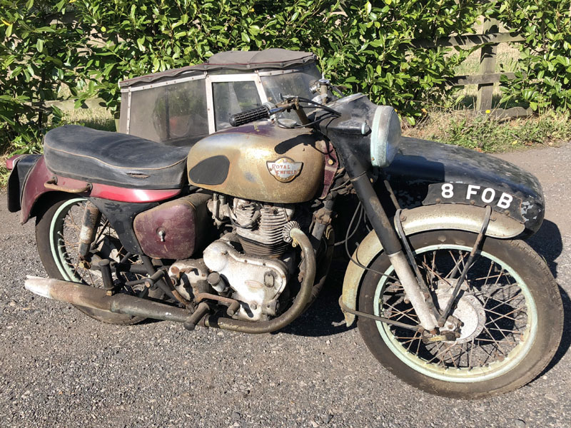 Lot 44 - 1962 Royal Enfield Constellation Combination