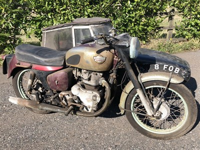 Lot 44-1962 Royal Enfield Constellation Combination