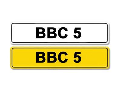 Lot 3-Registration Number BBC 5