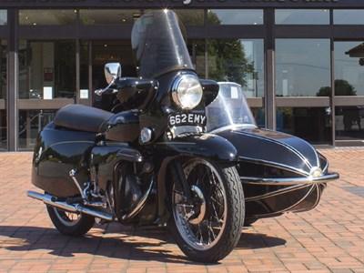 Lot 92 - 1955 Vincent Black Knight Combination