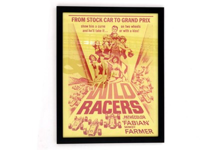 Lot 45-'The Wild Racers' Original Movie Poster Lobby Card