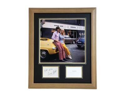 Lot 39-George Best Autograph Presentation (1946 - 2005)