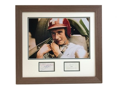 Lot 14-Jo Siffert Autograph Presentation (1936 - 1971)