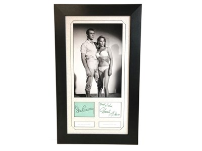 Lot 40-James Bond 'Dr No' Autograph Presentation