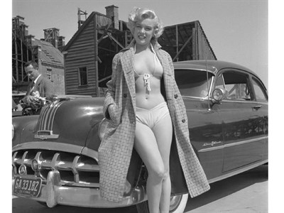 Lot 58-'Marilyn Monroe and the Pontiac'