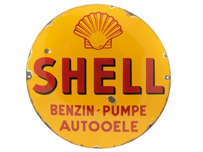 Lot 88-Shell Petrol Pump / Motor Oil Enamel Sign