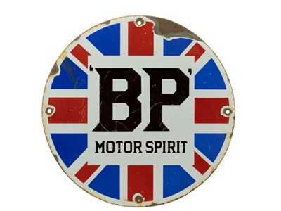Lot 90-BP Motor Spirit Enamel Sign