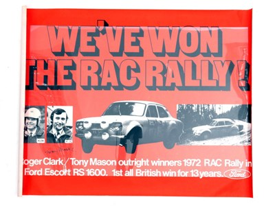Lot 38-Ford Escort RAC Rally Victory Poster