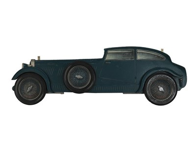 Lot 34-A Hand-Painted Wooden Profile of the Woolf Barnato Blue Train Bentley