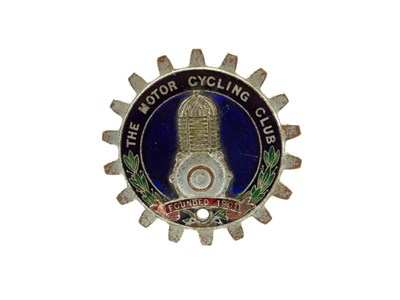 Lot 5-'The Motorcycling Club' Car Badge