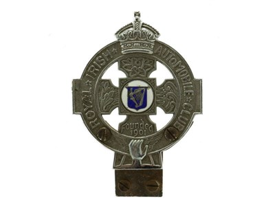Lot 6-Royal Irish Automobile Club Member's Badge