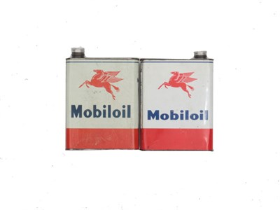 Lot 61-Two Mobiloil Cans