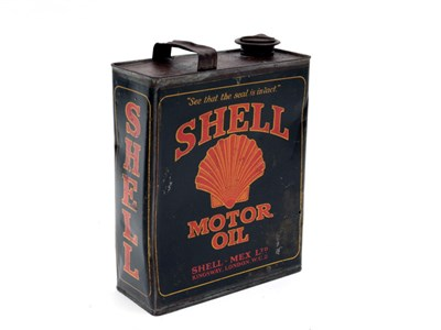 Lot 1-A Shell Motor Oil Can