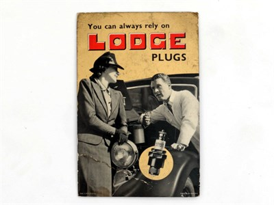Lot 19-A 'Lodge Sparking Plugs' Advertising Showcard