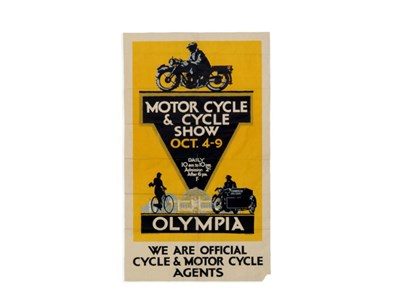 Lot 46-'Olympia Motorcycle and Cycle Show' Advertising Poster