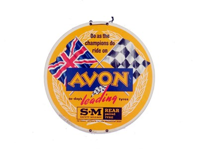 Lot 89-An Avon Motorcycle Tyres 'Display Disc'
