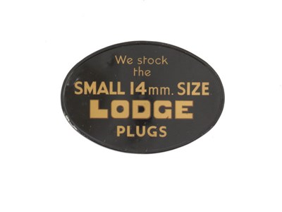 Lot 30-A 'Lodge Sparking Plugs' Advertising Sign