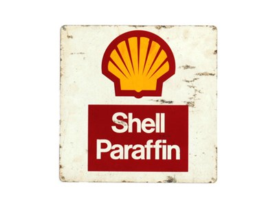 Lot 22-A Shell Paraffin Advertising Sign