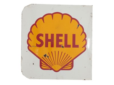 Lot 67-A Shell Petrol Enamel Sign