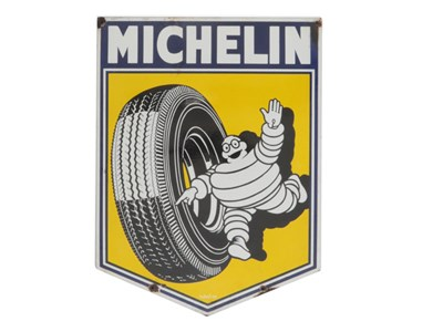 Lot 4-A Michelin Tyres Enamel Sign