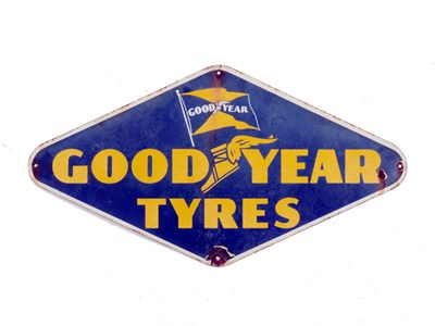 Lot 33-A Goodyear Tyres Enamel Sign
