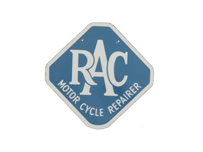 Lot 51-An RAC 'Motorcycle Repairer' Enamel Sign