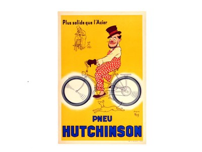 Lot 70-A Rare 'Hutchinson Tyres' Advertising Poster