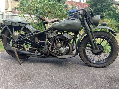 Lot 105 - 1947 Harley Davidson WLA