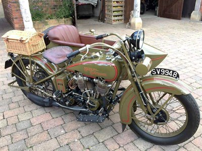 Lot 78-1927 Harley Davidson Model JD