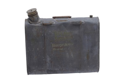 Lot 35 - An Unusual Metal Fuel Can